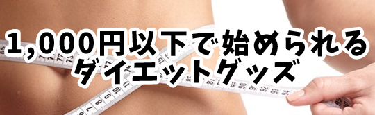ダイエット1,000円以下